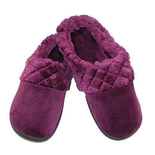 Dearfoams-Womens-Velour-Clog-Slipper-with-Cuff-and-Memory-Foam-B01M1DVJ4S