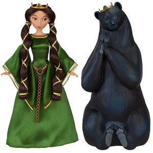 Disney-Pixar-BRAVE-Movie-Exclusive-Doll-Set-Queen-Elinor-Bear-B008EKYK0Y