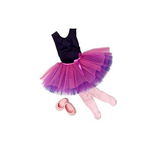 Our-Generation-Dance-Tulle-You-Drop-Ballerina-Outfit-and-Accesory-Set-for-18-Poseable-Doll-B00AH18JJ6