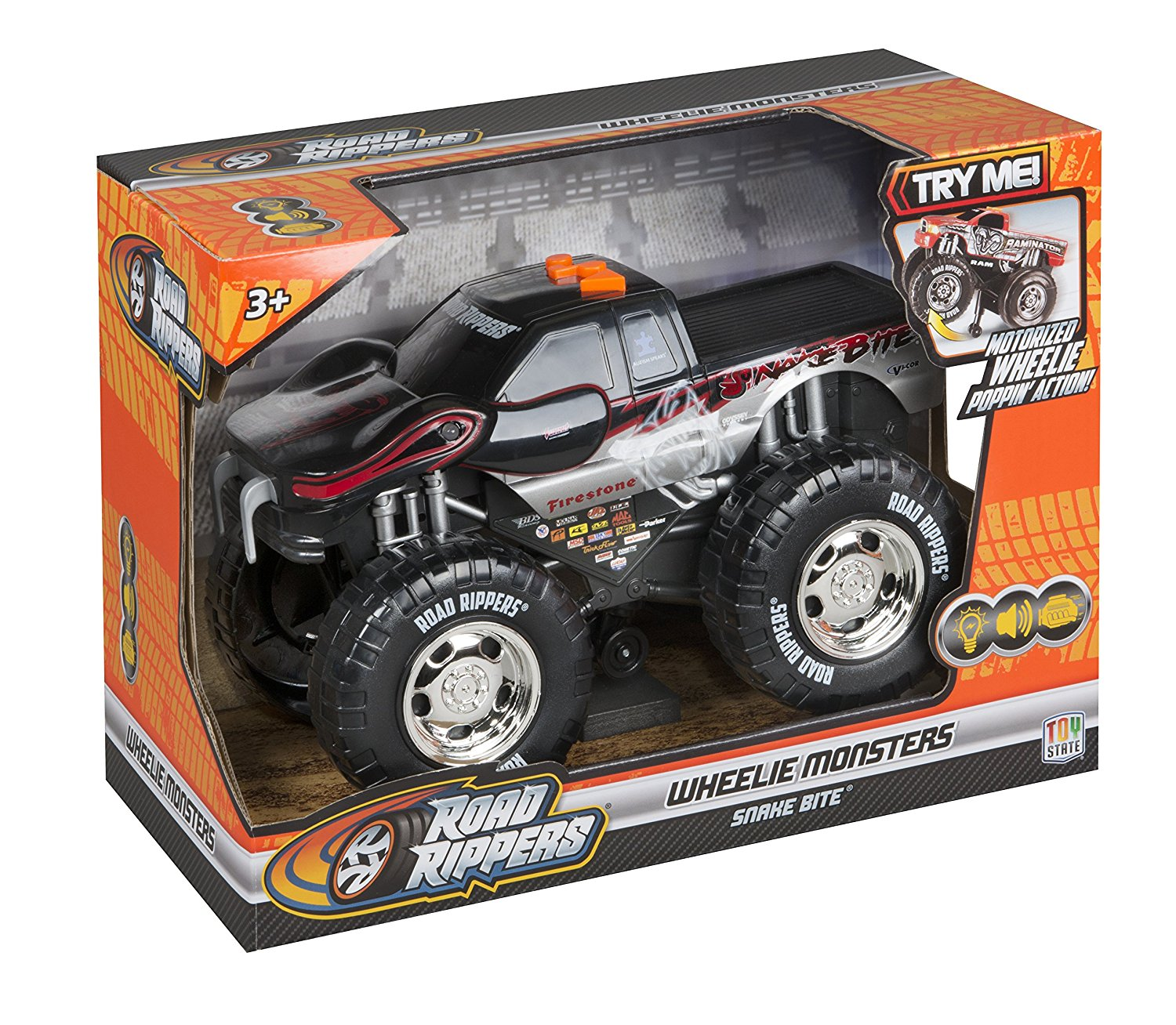 toy state road rippers light and sound wheelie monsters