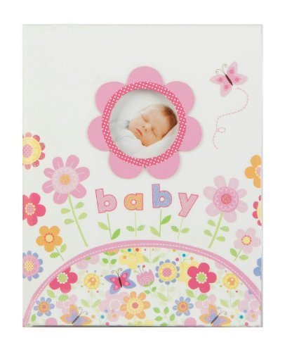 baby-Babys-First-Record-Memory-Book-Keepsake-First-5-Years-FlowerButtrfly-Pink-Girl-Baby-Book-B00EO4N6O0